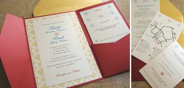 Pocket folder invitation with enclosure cards