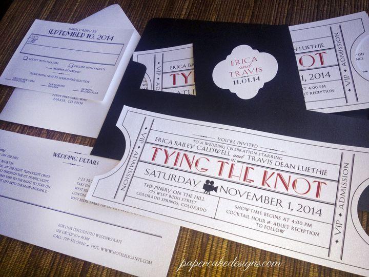 Vintage ticket invitation suite