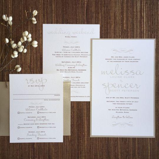 Typography invitation suite