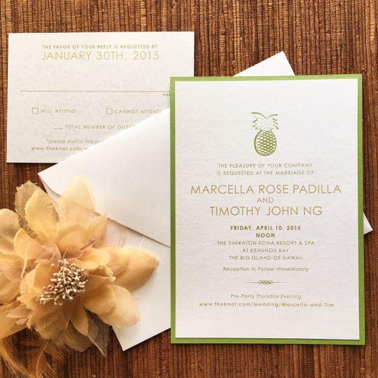 Beach / pineapple invitation