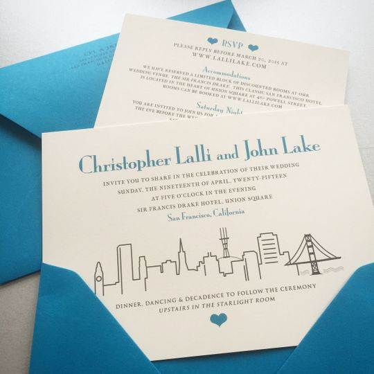 San Francisco skyline invitation