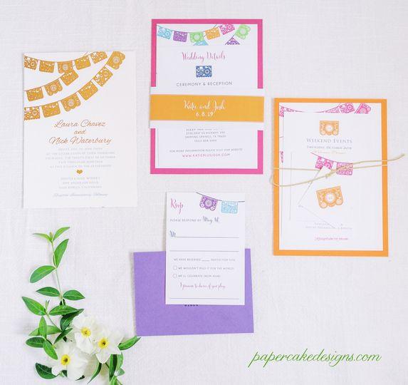 Papel Picado Wedding Invites
