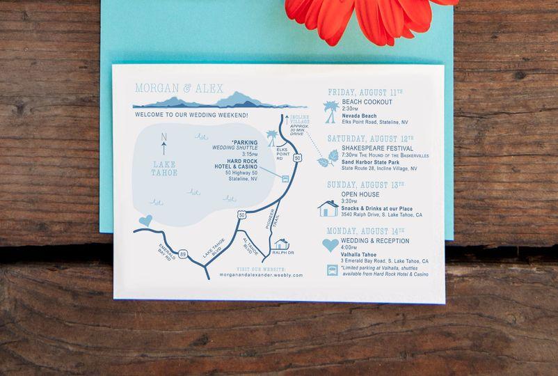 Custom Printable Wedding Map