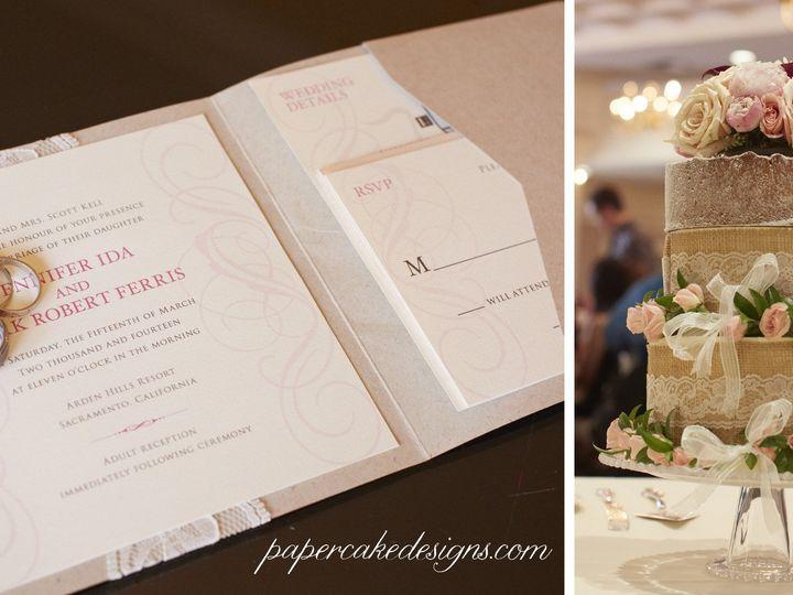 Tmx 1402072755503 Jennferriscakeinvite South Lake Tahoe, CA wedding invitation