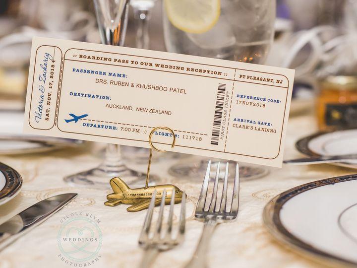 Tmx Escort Boarding Pass 51 568 South Lake Tahoe, CA wedding invitation