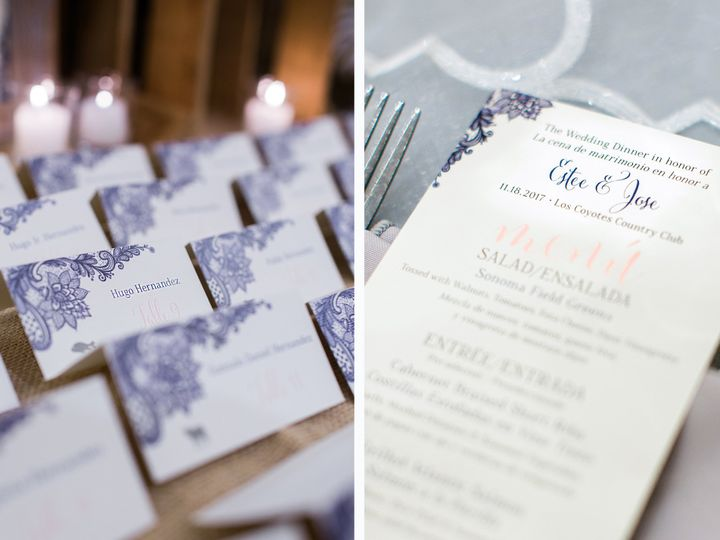 Tmx Estee Reception Stationery 51 568 South Lake Tahoe, CA wedding invitation