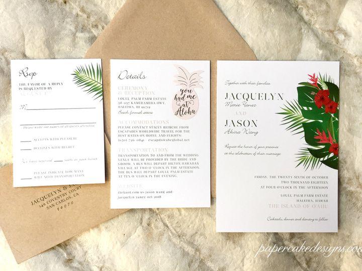 Tmx Hawaii Floral Invites 51 568 V1 South Lake Tahoe, CA wedding invitation