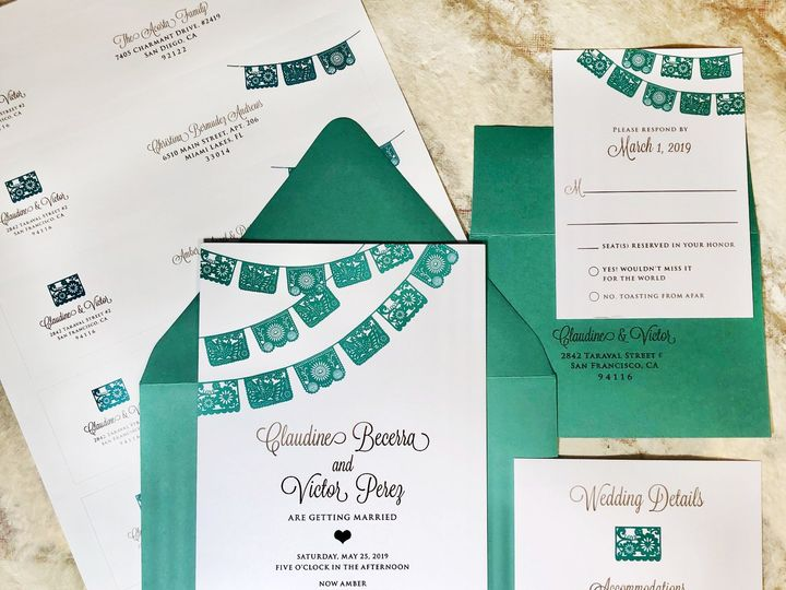 Tmx Invites Papel Picado19 51 568 South Lake Tahoe, CA wedding invitation