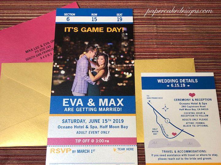 Tmx Sport Ticket Invites2019 51 568 V2 South Lake Tahoe, CA wedding invitation