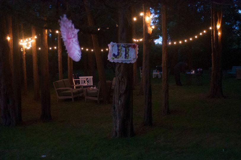 wedding natural light photography night decoration