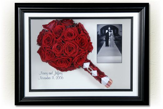 Red preserved bouquet