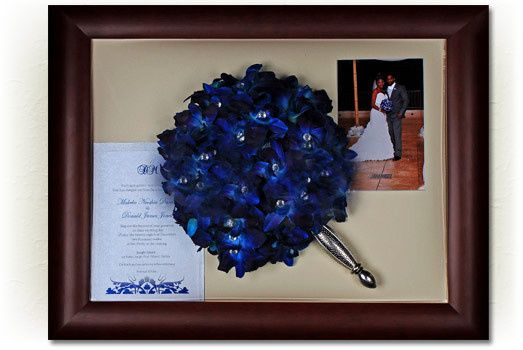 Blue preserved bouquet