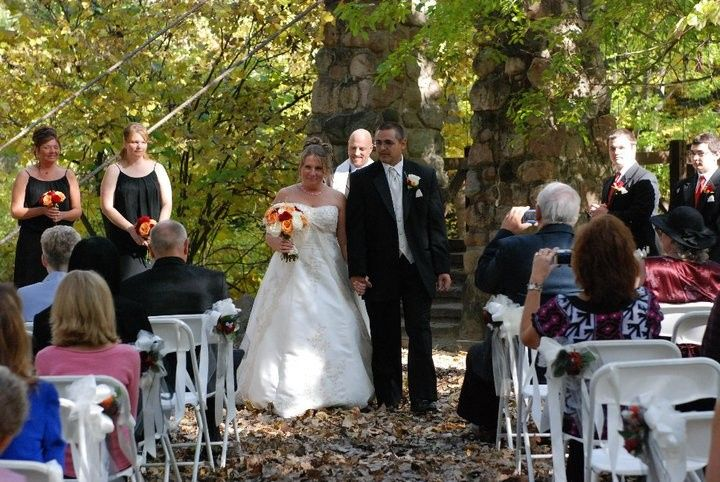 Valerie and Jeff walk the aisle together