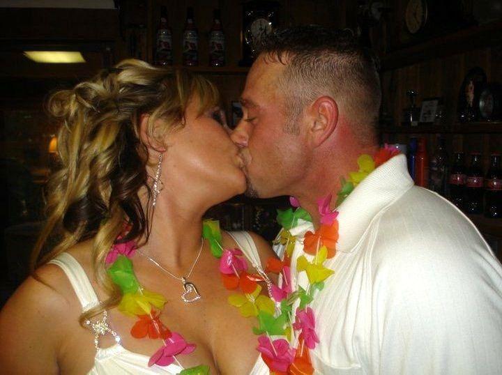 Brian and Elizabeth share their wedding kiss!