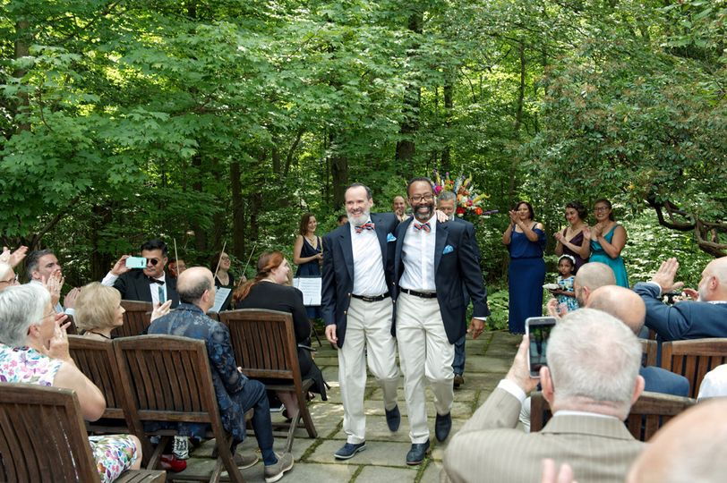 Richard and Geoffrey after sharing wedding vows with family and friends.  Wedding and reception at...