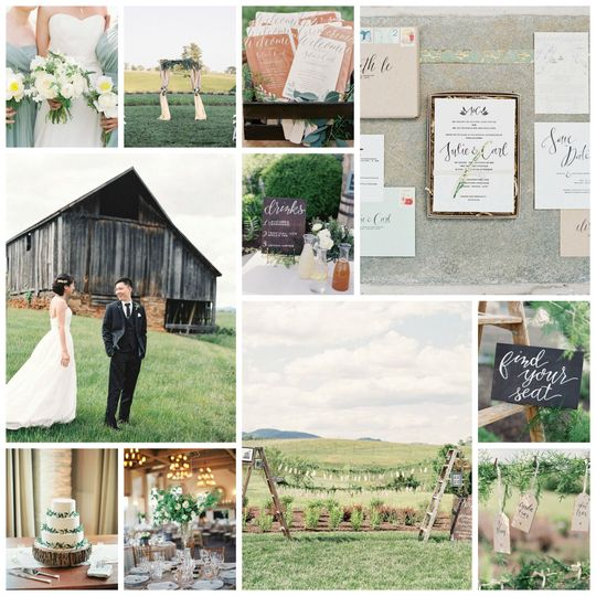 J+C's Spring Wedding at Early Mountain Vineyard (Madison, VA)  As featured in The Knot DC, MD, VA...