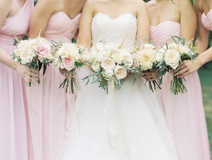 Peach themed wedding