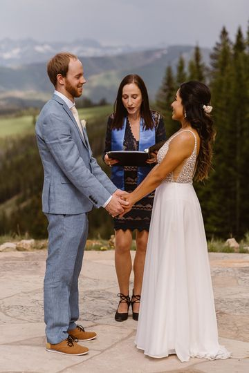 Beaver Creek Wedding Deck