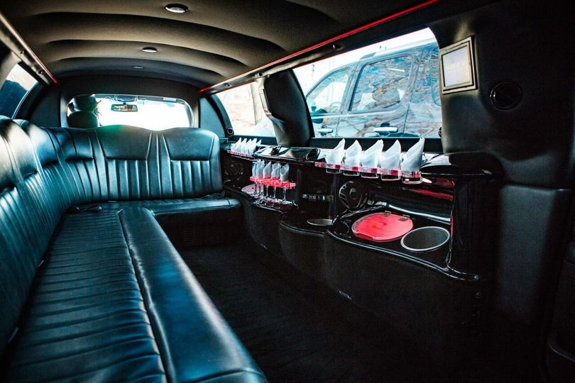inside of limo