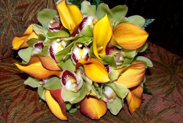 Calla and Orchid bouquet
