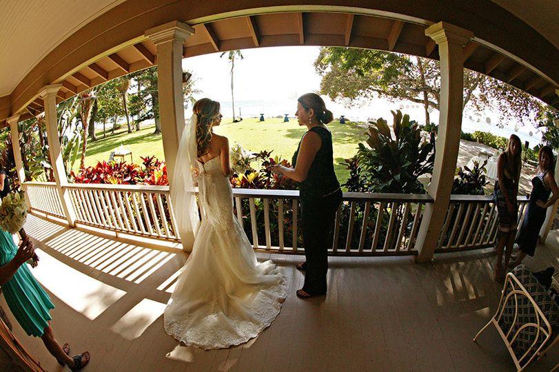 Destination Wedding in Maui, Hawaii, Working on Location, Olowalu Plantation. Caroline Morey of...