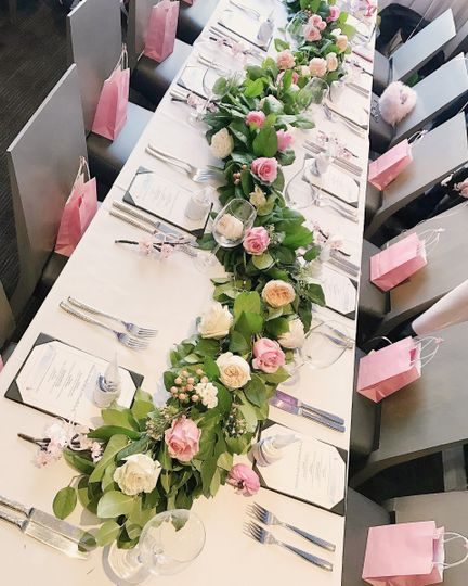 Pink table cloths