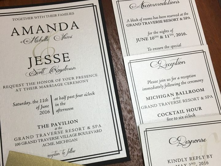 Tmx 1480736456127 Traditionalclassicweddinginvitation Traverse City wedding invitation