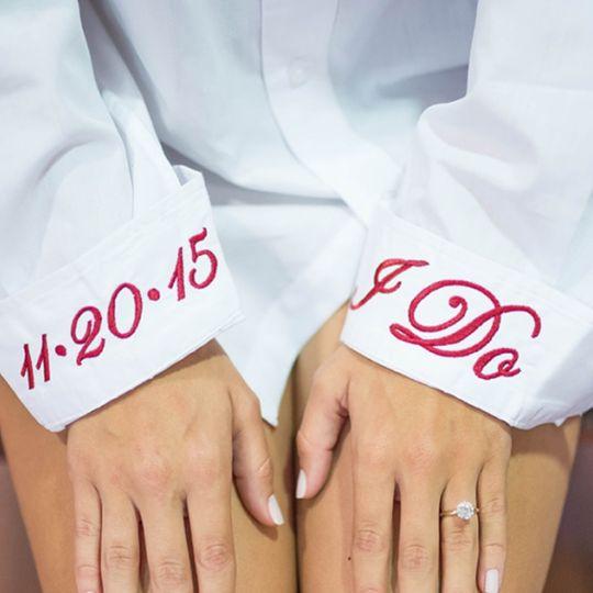 Getting ready bridal shirt