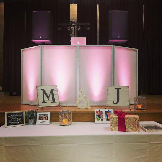 M&J wedding reception