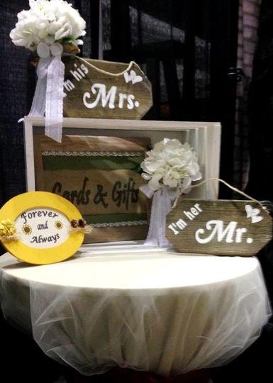 Wedding creative signage