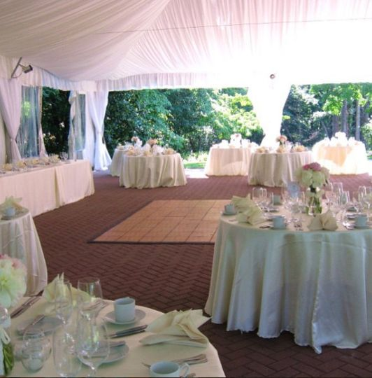 Covered outdoor reception