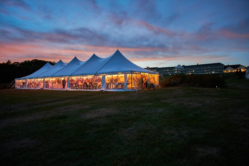 Tent wedding on the lawn