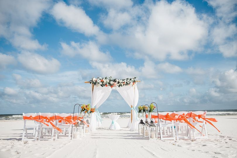 Coral Wedding Arch
