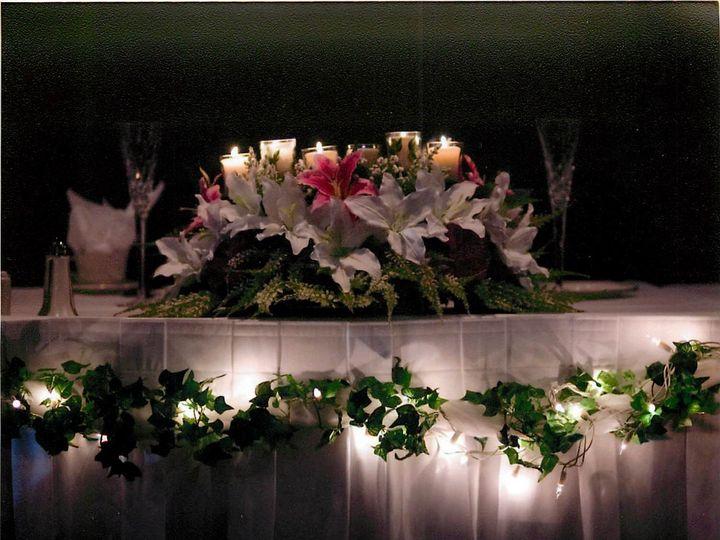 Tmx 1426875414323 Head Table And Tulle Lighting Warren, Michigan wedding florist
