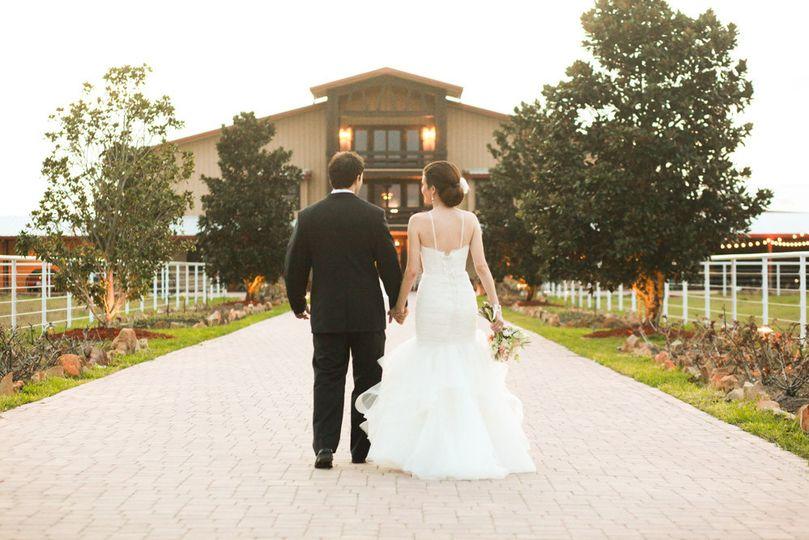 Couple leisurely walk hand in hand