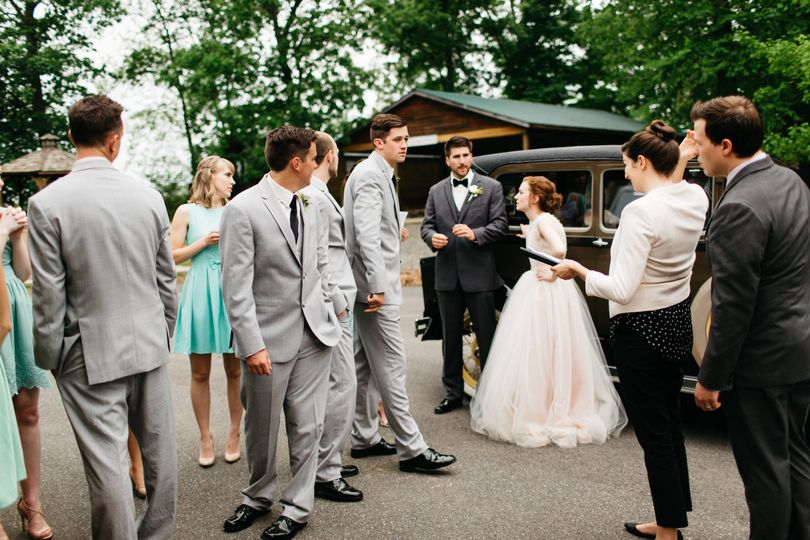 Getting the bridal party lined up for their big entrance into the reception!  May 2015 Photo Credit:...