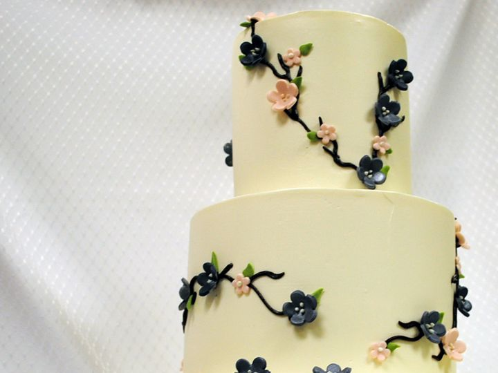 Tmx 1402782905948 Wedding Cake 3 Tot Cherry Blossom Buttercream Pink Chicago wedding cake