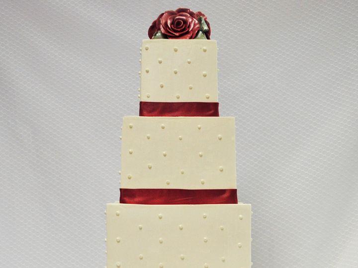Tmx 1402783040829 4 Tot Buttercream Wedding Cake Single Dot Red Fond Chicago wedding cake