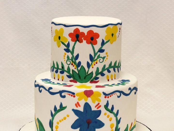 Tmx 1437752709744 2tot White  Multicolor Fondant Swedish Flowers  Pa Chicago wedding cake