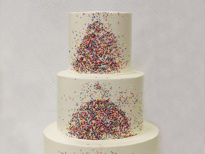 Tmx 1470855978266 3tot White Buttercream Sprinkles Wedding Cake 1 Chicago wedding cake
