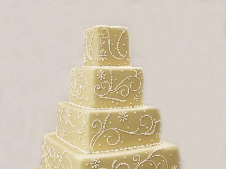 Tmx 1470856603773 4tot Off White Marzipan White Scrolls Beading Squa Chicago wedding cake