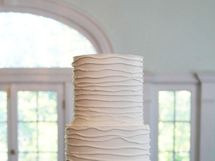 Tmx 1470858110128 3tot White Buttercream Wedding Cake Textured Branc Chicago wedding cake