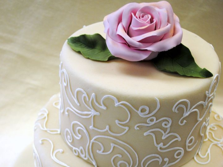 Tmx 1470925766120 Marzipan With Fondant Pink Rose Floral Design 2 Chicago wedding cake