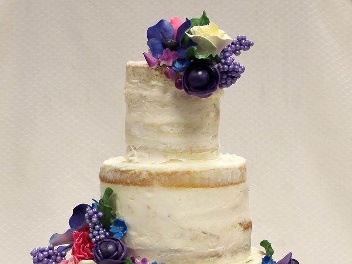 Tmx 1470926301855 Tot Naked Cake Multicolor Flowers Wedding Cake 4 Chicago wedding cake