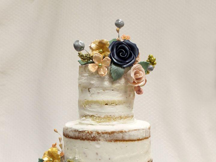 Tmx 1470926396576 Naked Cake Crumb Coat Fondant Roses Billy Balls Si Chicago wedding cake