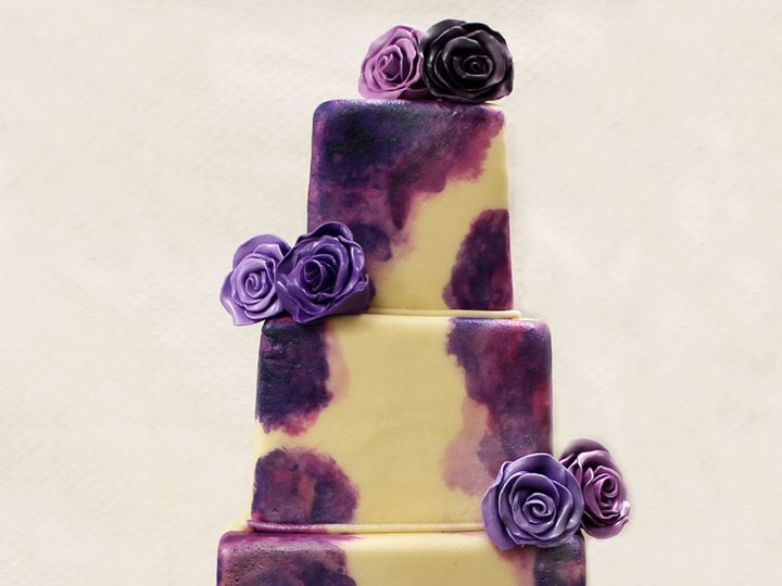 Tmx 1470927022121 4tot Off White  Purple Ombre Watercolor Painting F Chicago wedding cake
