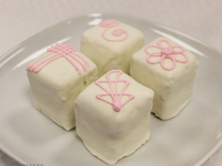 Tmx 1470930985839 Almond Truffle Custom White With Pink Deco 23 Chicago wedding cake