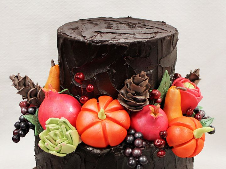 Tmx 1471111665647 2tot Brown Chocolate Texture  Multicolor Grapes Fl Chicago wedding cake