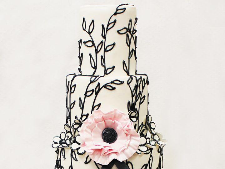 Tmx 1471111847625 3tot White Black  Pink Floral Pattern Drawing Pink Chicago wedding cake