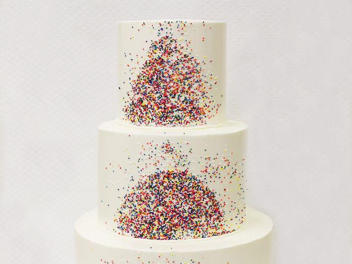 Tmx 1471112177106 3tot White Buttercream Sprinkles Wedding Cake 8 We Chicago wedding cake